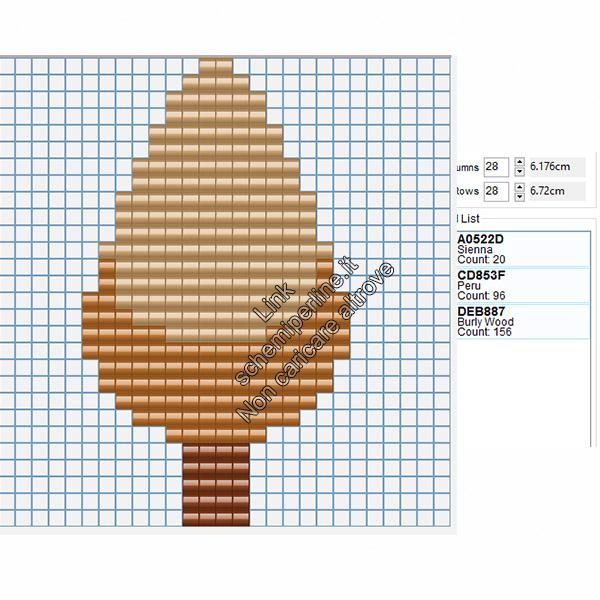 Albero autunno schema perline da stirare hama beads amazon 16x28