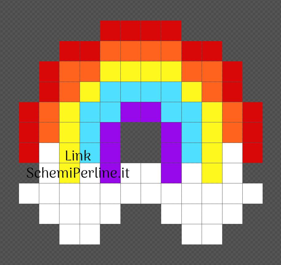 Arcobaleno Pyssla 12x11