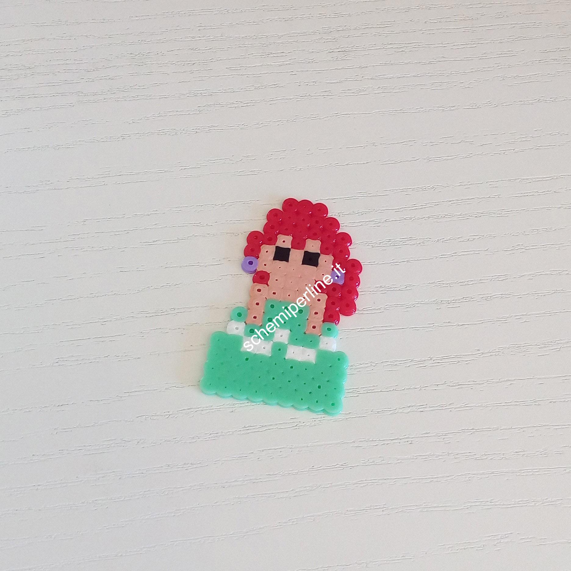 Ariel La Sirenetta Mini Principessa Disney foto lavoro Pyssla