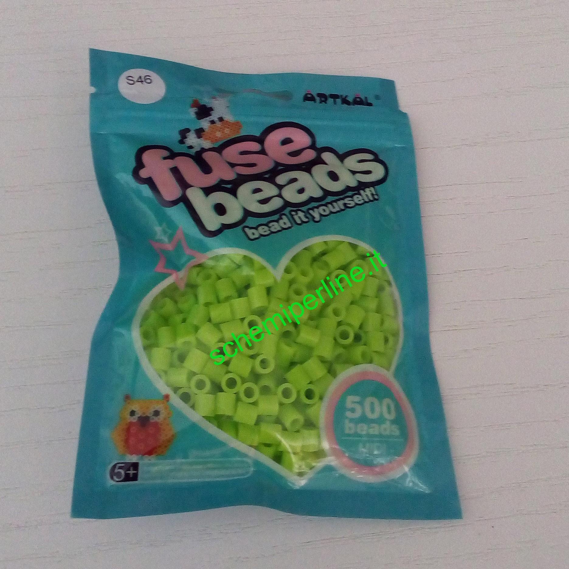 Arkal fuse beads perline da stirare dure midi verde 500