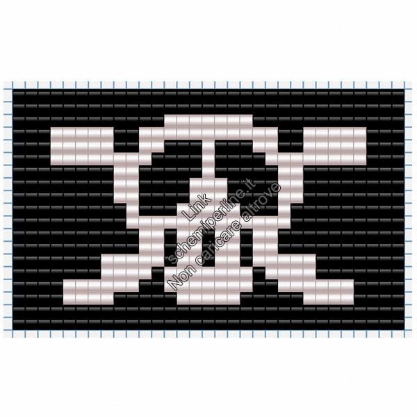 Bandiera dei pirati schema perline da stirare pyssla per bambini 31x19