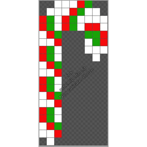 Bastoncini di zucchero Natale schema perline da stirare Pyssla 9x19 2