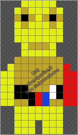 C 3PO personaggio Star Wars schema gratis pyssla hama beads 11x19
