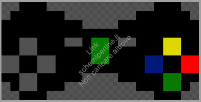 Fiocco o papillon schema perline da stirare Pyssla Xbox 360 22x11