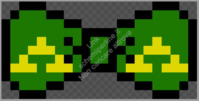 Fiocco o papillon schema perline da stirare Pyssla Zelda 22x11