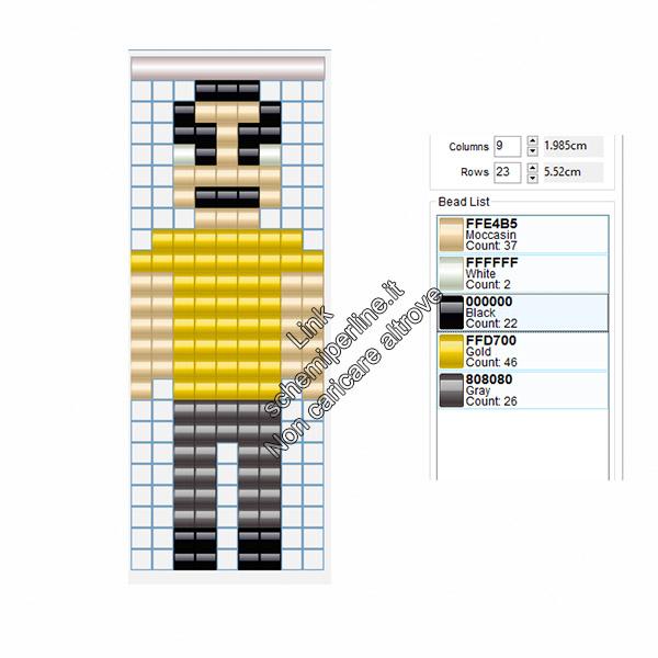Gonzalez personaggio Grand Theft Auto Vice City schema pyssla videogiochi 9x23