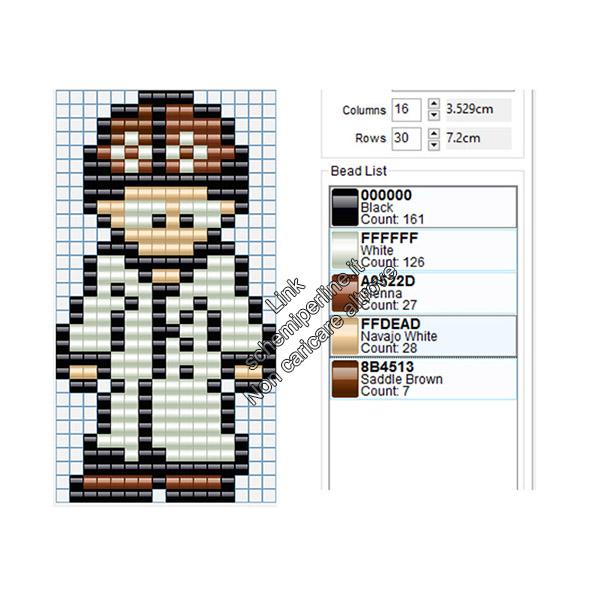 Il Dr. Neil del videogioco To The Moon schema pyssla hama beads 16x30