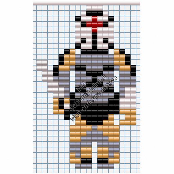 Il Ninja di Metal Gear Solid 1 PSX schema perline pyssla 18x30