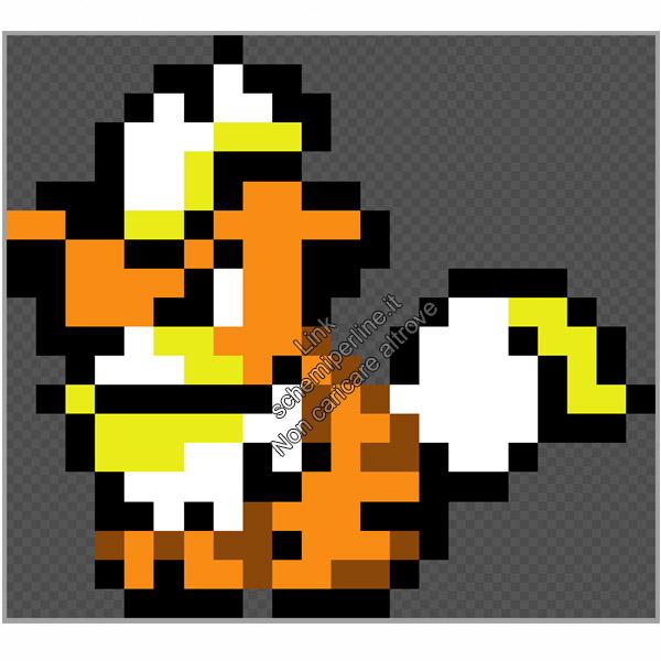 Il Pokemon Growlithe schema perline a fusione 22x20