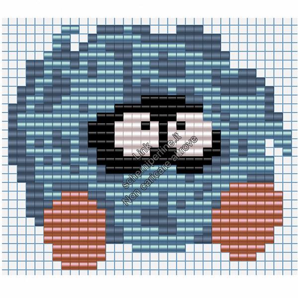 Il Pokemon Tangela schema pyssla hama beads 32x28