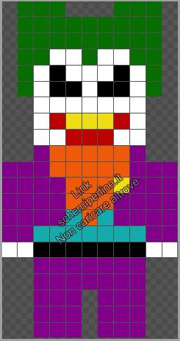 Joker schema perline a fusione Hama Beads gratis 11x21