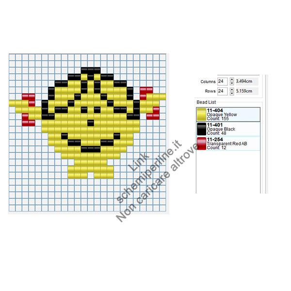 Little Miss Sunshine schema hama beads gratuito 24x24