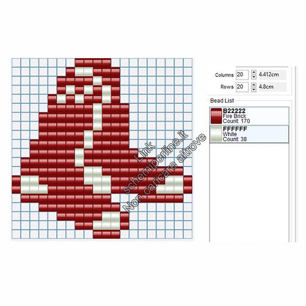 Logo dei Boston Red Sox squadra di baseball americano schema hama beads 20x20
