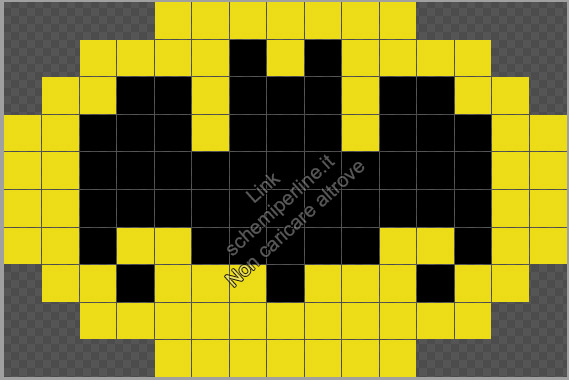 Logo di Batman schema Pyssla perline da stirare gratis 15x10