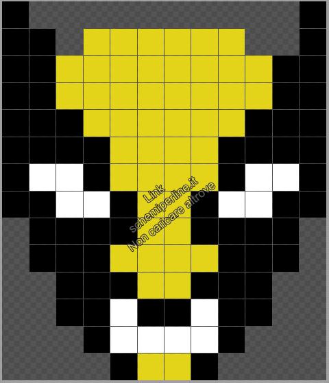 Logo di Wolverine schema Pyssla perline da stiro gratis 12x14