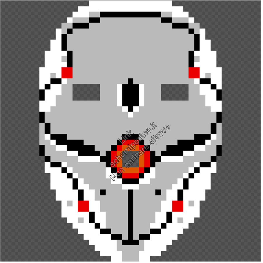 Maschera da indossare perline a fusione pyssla hama beads Gray Fox Metal Gear Solid