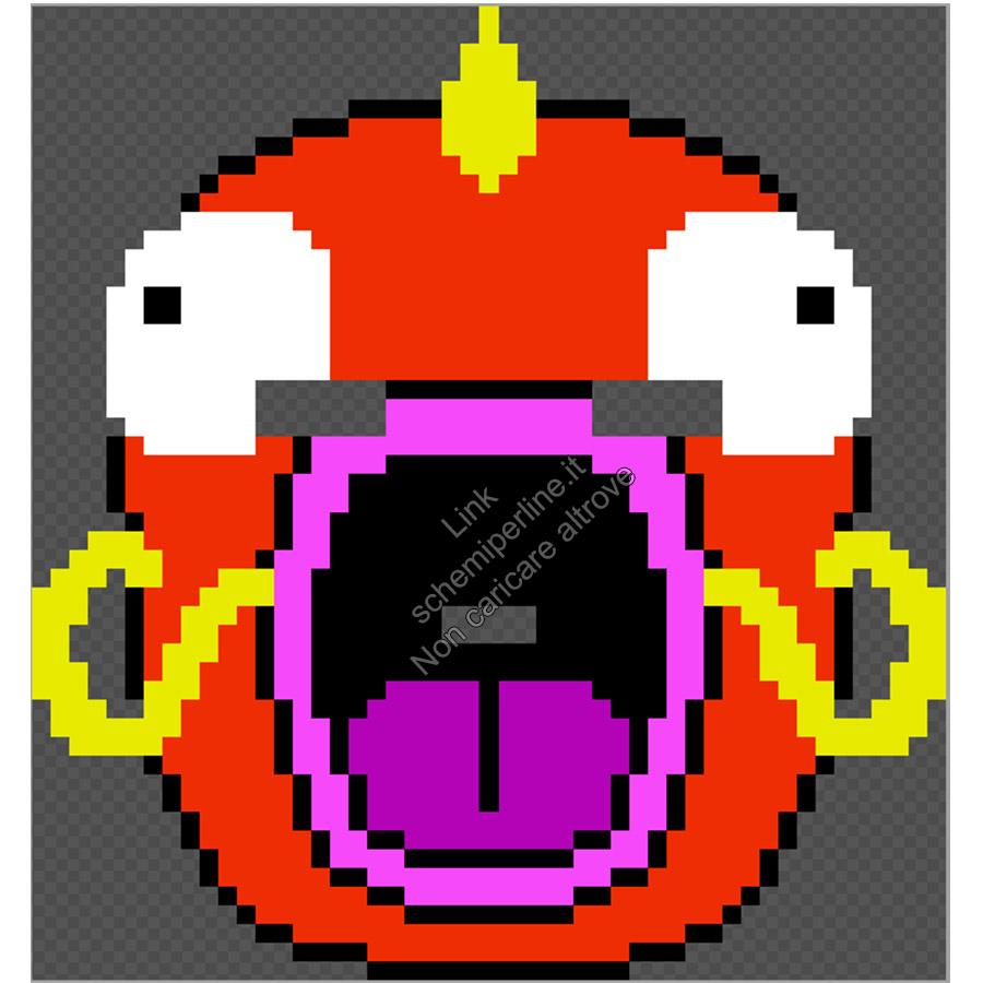 Maschera da indossare perline a fusione pyssla hama beads Pokemon Magikarp