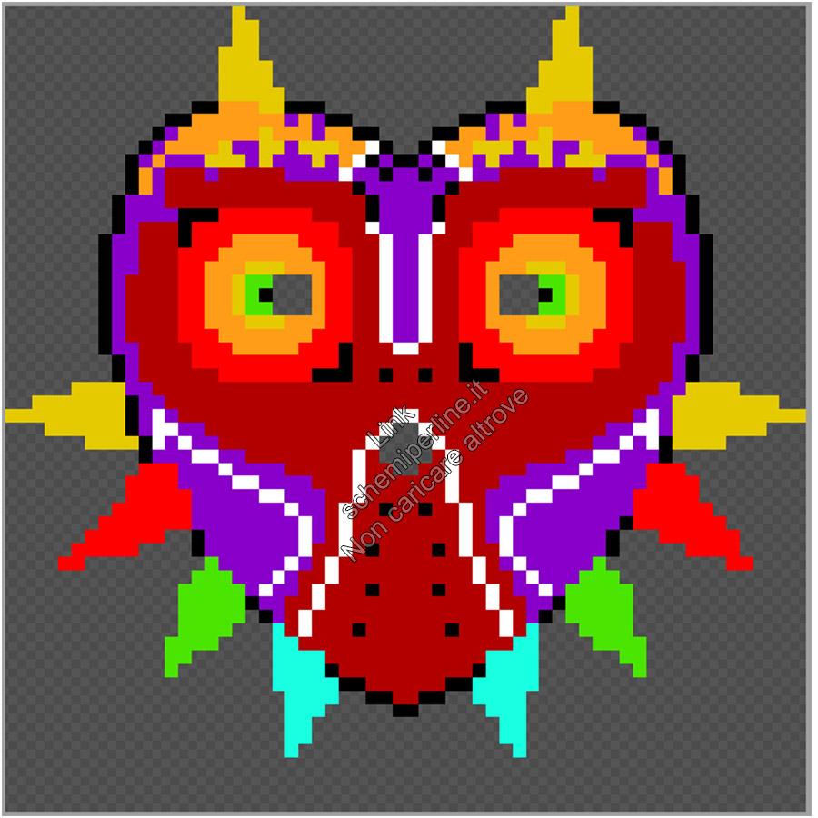 Maschera da indossare perline a fusione pyssla hama beads Zelda Majora s Mask