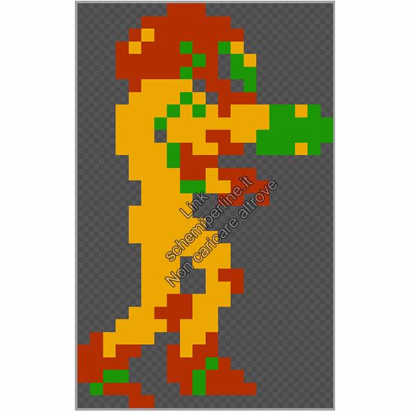 Metroid per Nintendo NES schema perline da stirare pyssla hama beads 20x32