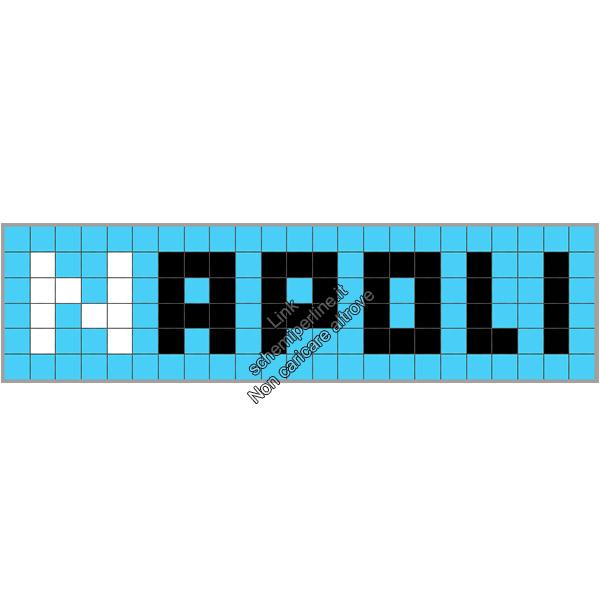 Nome squadra calcio Napoli schema perline a fusione Pyssla Hama Perler 23x6