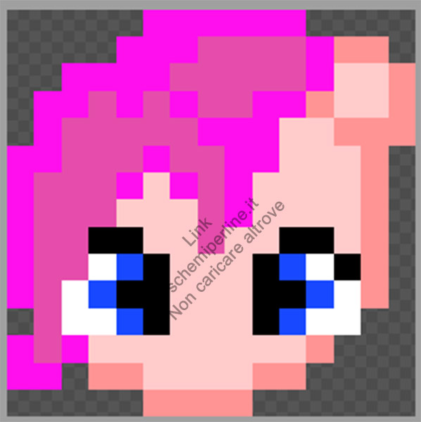 Pinkie Pie dei My Little Pony schema Tiger pyssla 15x15