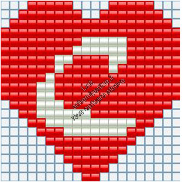 Portachiavi con iniziale schema pyssla hama beads 20x20 lettera C
