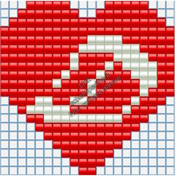 Portachiavi con iniziale schema pyssla hama beads 20x20 lettera D