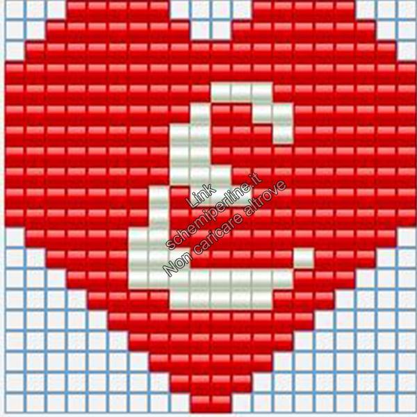 Portachiavi con iniziale schema pyssla hama beads 20x20 lettera E