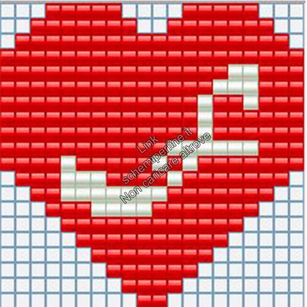 Portachiavi con iniziale schema pyssla hama beads 20x20 lettera F