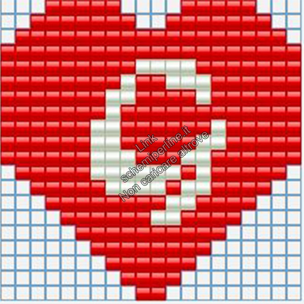 Portachiavi con iniziale schema pyssla hama beads 20x20 lettera G
