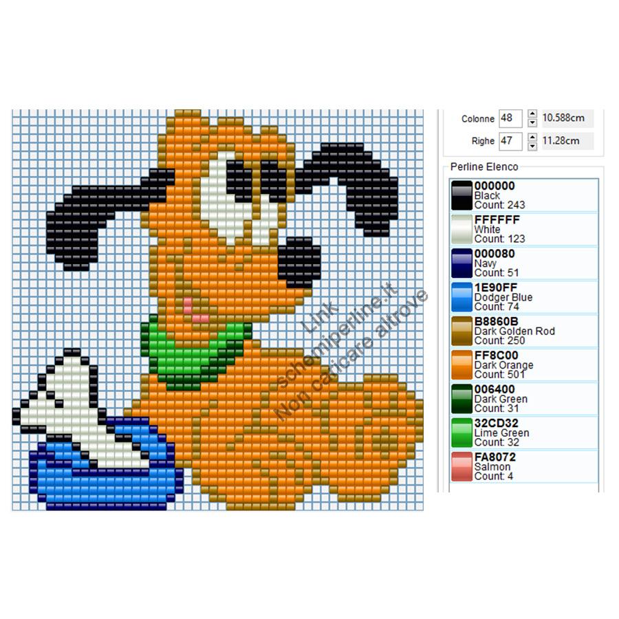 Schema Ikea Pyssla Disney Pluto 48x47