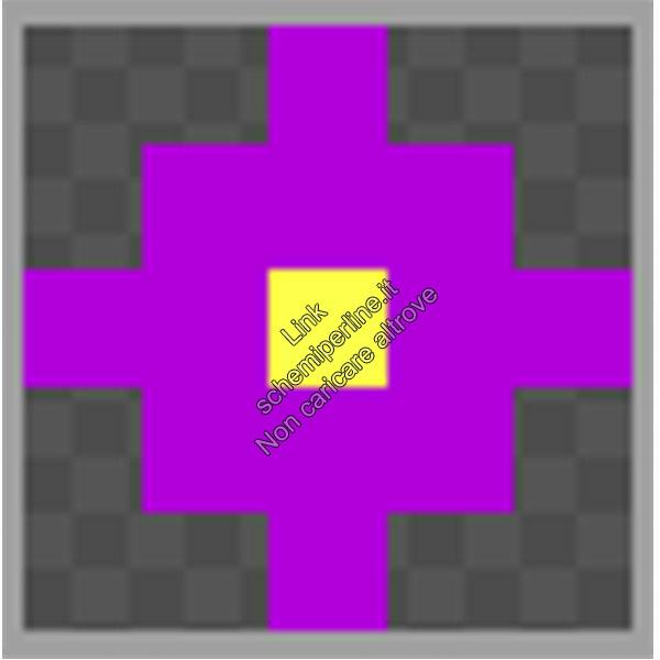 Schema anello con le pyssla hama beads perline a fusione fiore 5x5