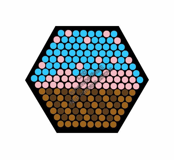 Schema perline da stirare base esagonale cupcake azzurro
