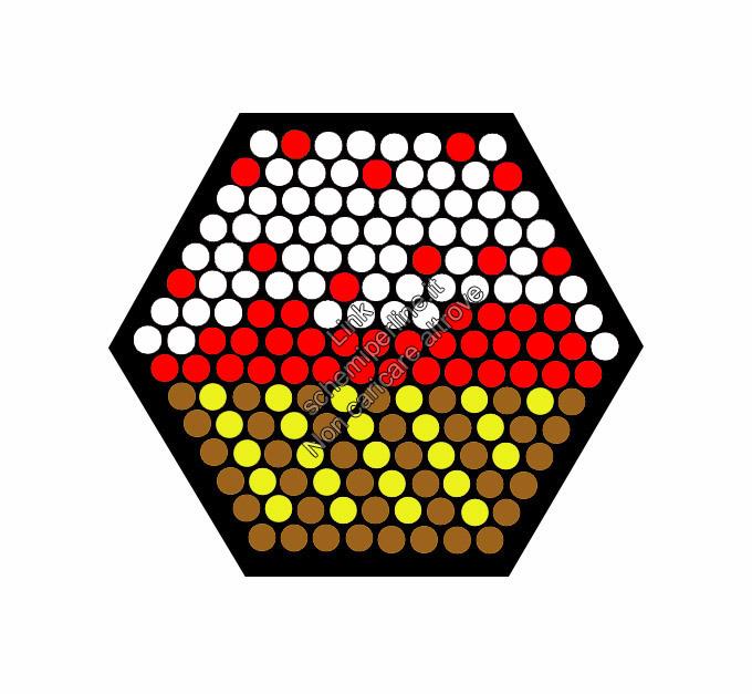 Schema perline pyssla hama beads base esagonale cupcake alla fragola