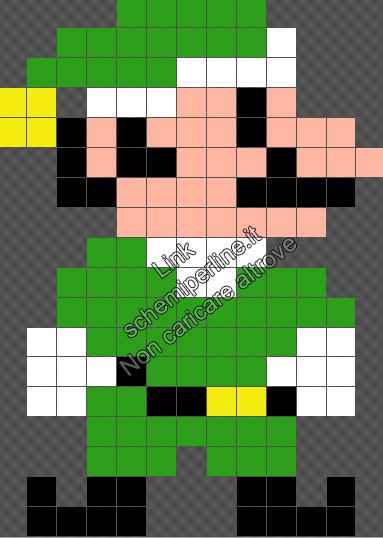 Schema pyssla Natale Luigi versione Elfo 13x18