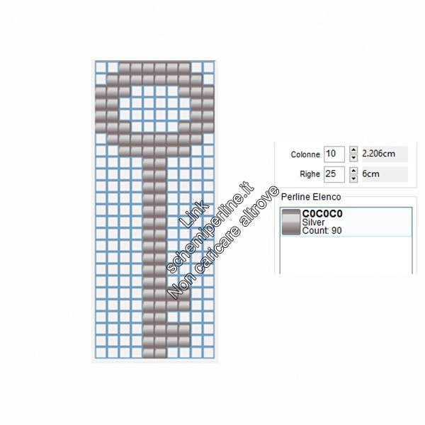 Schema pyssla chiave argentata 10x25