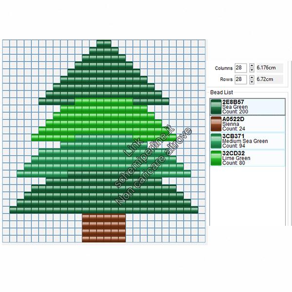 Schema pyssla gratuito albero pino 26x28