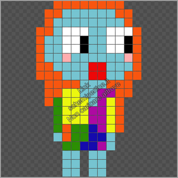 Schema pyssla hama beads Halloween Sally Nightmare Before Christmas 12x20