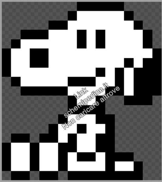 Snoopy seduto schema perline da stirare pyssla 17x19