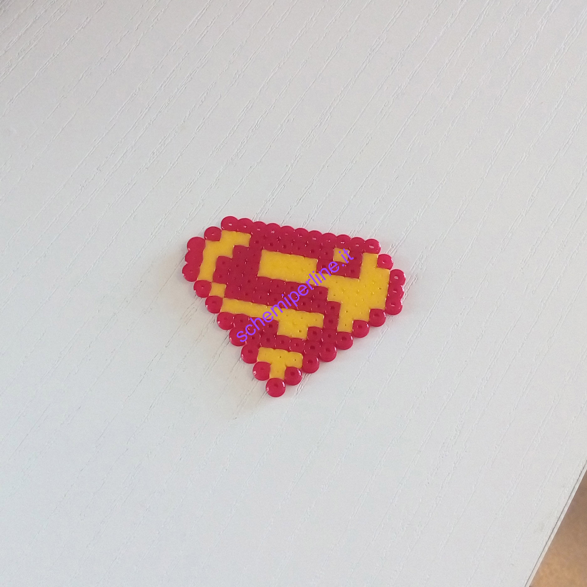 Supereroi con le Pyssla Hama Beads Superman