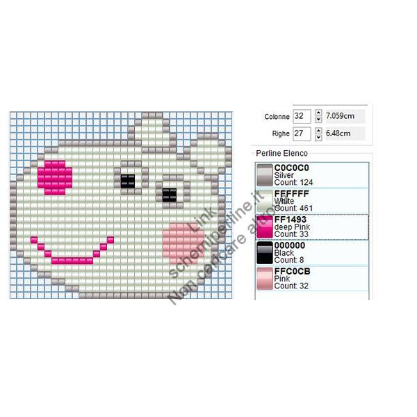 Susy Pecora personaggio Peppa Pig schema pyssla 32x27 3