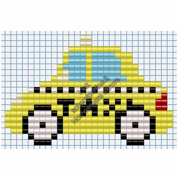 Taxi mezzi di trasporto schmi pyssla per bambini 29x19