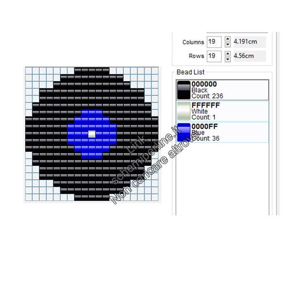 Vinile blu schema musica perline da stirare Pyssla 19x19
