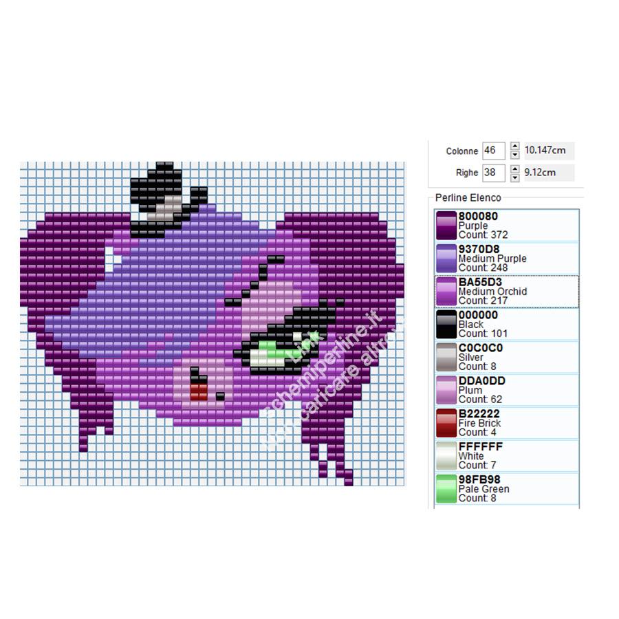 Zoe personaggio Littlest Pet Shop schema perline Pyssla Tiger 46x38