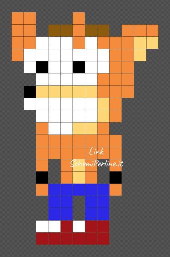 Crash Bandicoot schema pyssla gratis 12x19