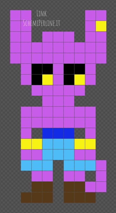 Beerus personaggio Dragonball Super schema facile Hama Beads 9x18