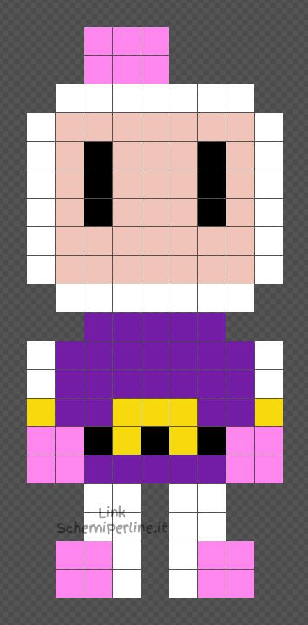 Bomberman schema perline da stirare Pyssla 9x20