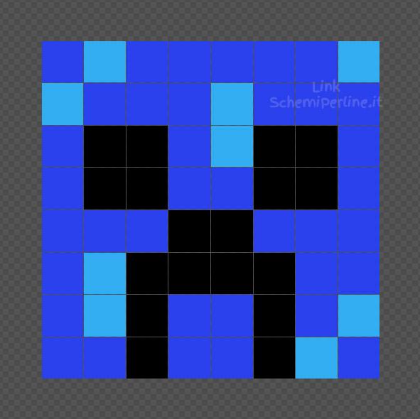 Creeper Caricato schema da fare con le Hama Beads 8x8