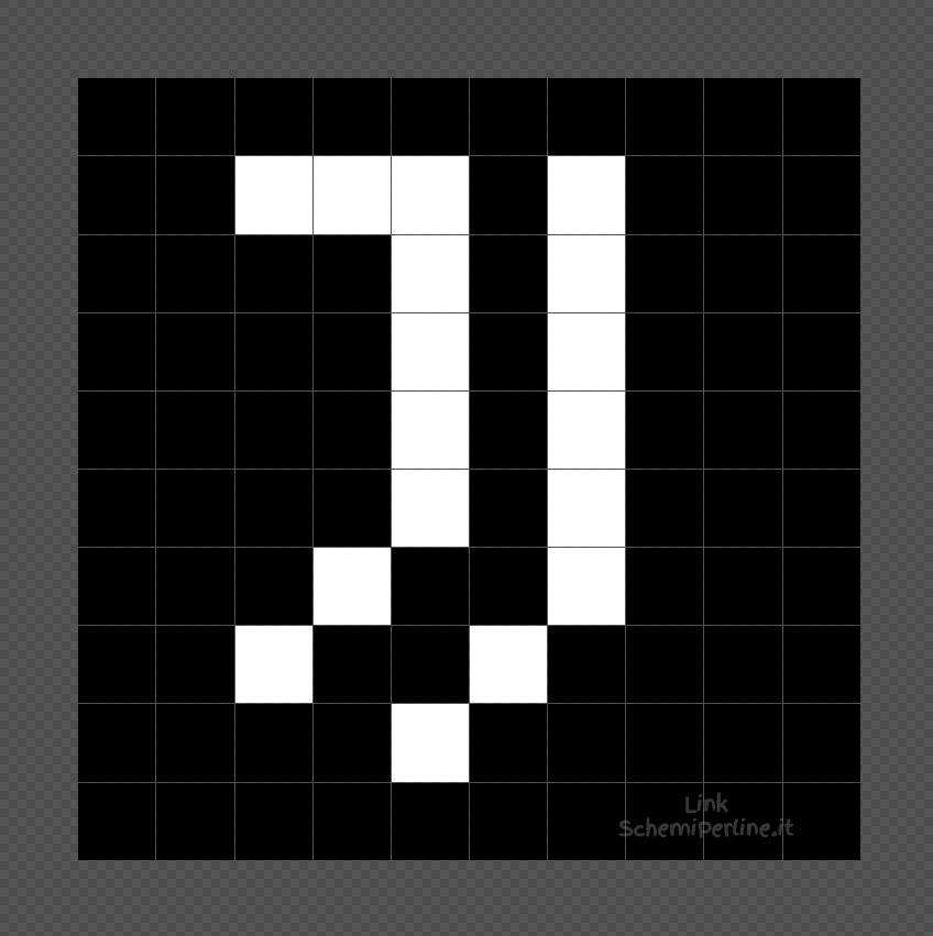 Il logo della Juventus da fare con le perline da stirare Pyssla 10x10