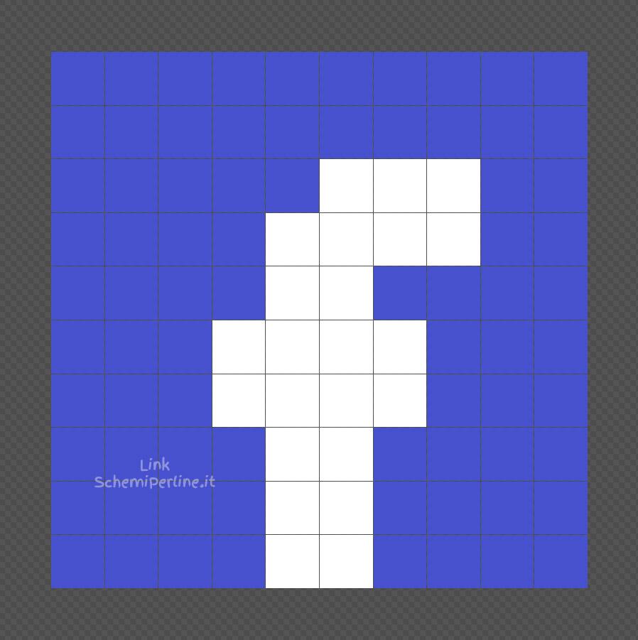 Il logo di Facebook schema coding Pyssla facile 10x10